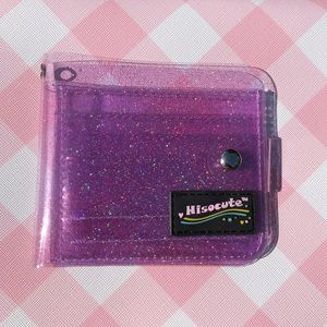 Handbags - Rainbow Glitter Jelly Purple Small/Mini Wallet